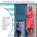 Miss Ruby Tuesday sewalong – grading up and down the sizes